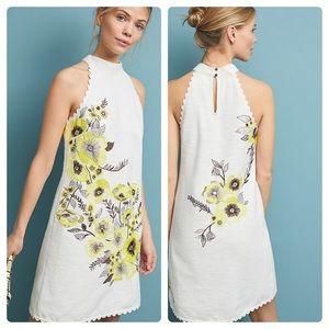 Anthro  Maeve Petunia Shift Dress Size 4